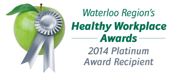 Waterloo Region's Healthy Workplace Awards 2013 Gold Recipient