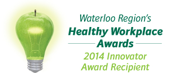 Waterloo Region's Healthy Workplace Awards 2014 Innovator Award