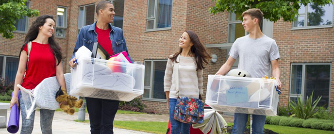 Students on Moving Day